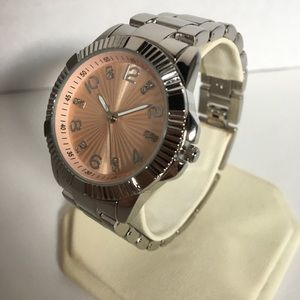 NWT Diamond and Rose Gold/Silver Watch